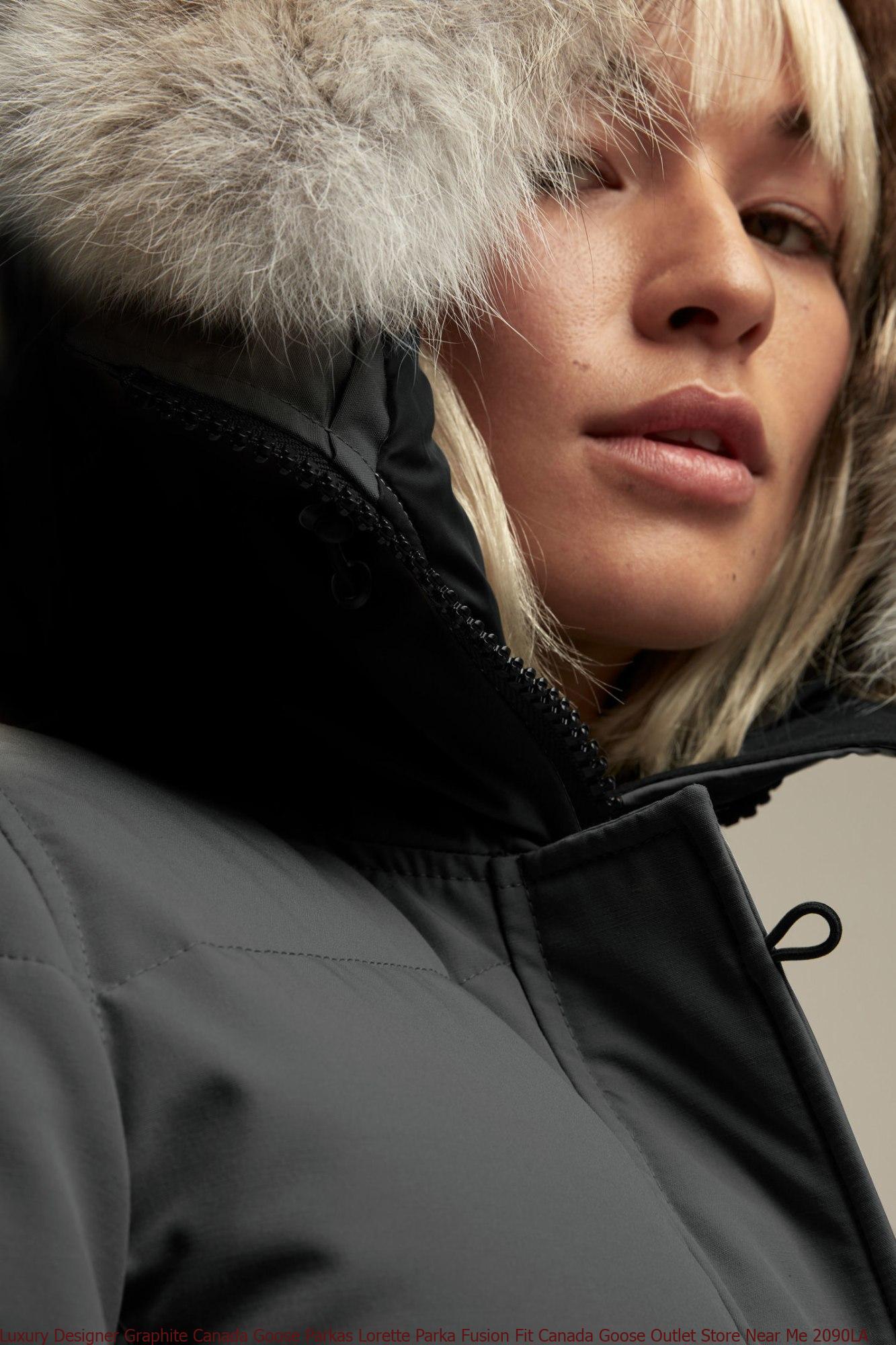 Coat Stores Near Me >> Luxury Designer Graphite Canada Goose Parkas Lorette Parka Fusion Fit Canada Goose Outlet Store Near Me 2090la